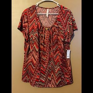 NY Collection Short Sleeve Blouse